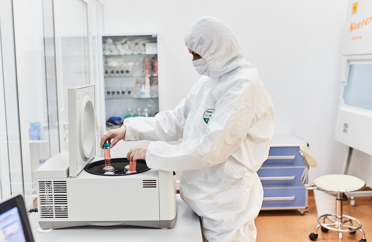 Swiss Medica laboratory. Centrifugation.