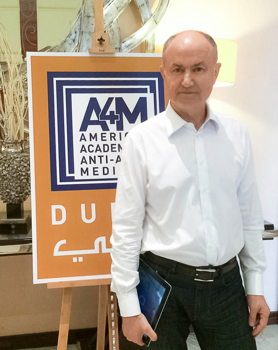 Doctor Vorobiev at the 3rd American Anti-Aging Conference 2014, Dubai, UAE