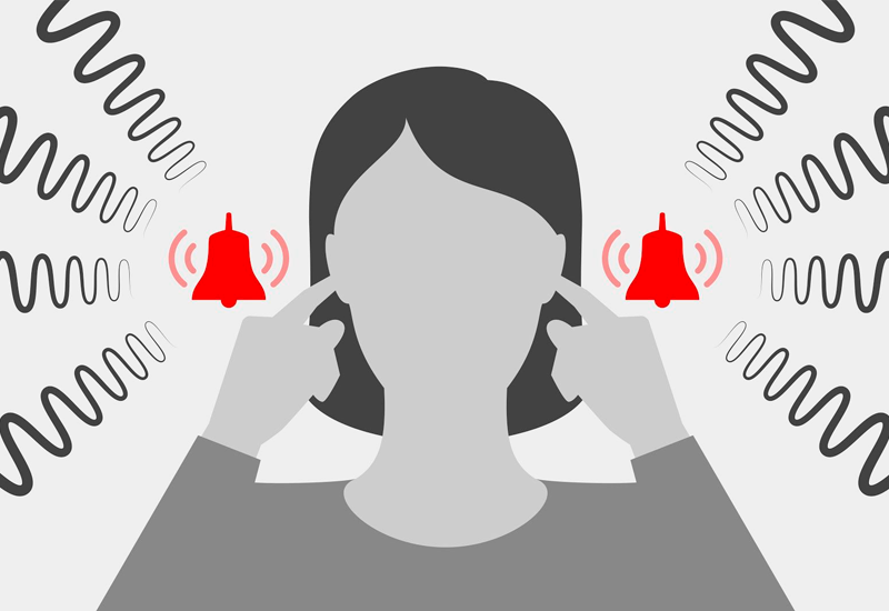 Tinnitus is experienced as annoying sounds like ringing, clicking, buzzing, hissing, humming or roaring in the absence of any corresponding external sounds.