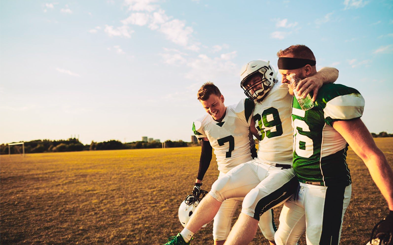 Knee injuries, ankle sprains and concussions are common occurrences in athletes.