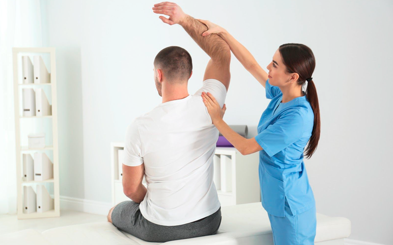 Physiotherapy plays a key role in healing promotion.