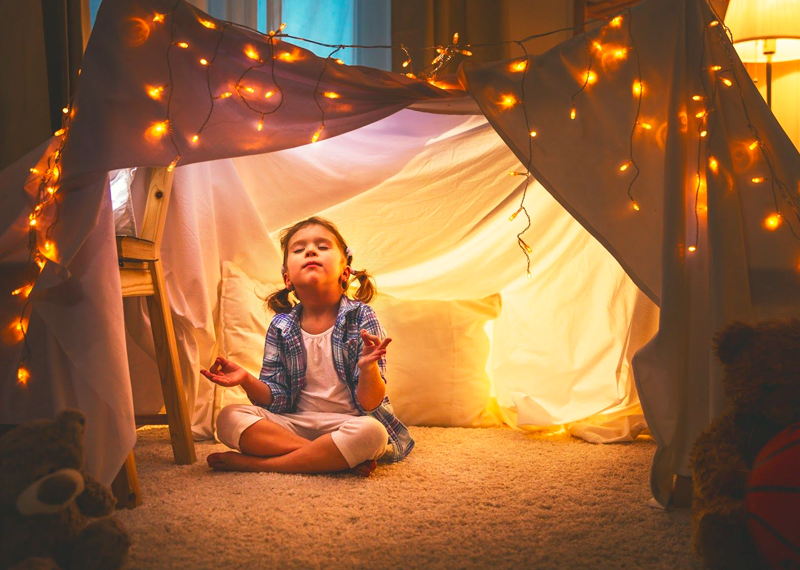 A sense of comfort and safety help reduce a child's level of anxiety.